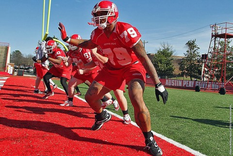 Austin Peay Football prepares for Saturday's Red and White Game. (APSU Sports Information)