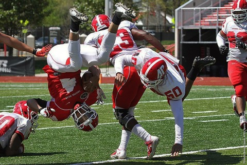 Austin Peay State University played their annual Spring Red and White Game Saturday. (APSU Sports Information)