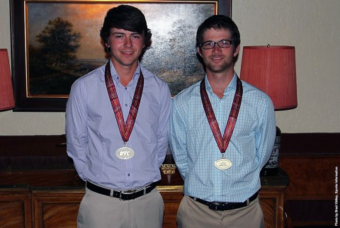 Austin Peay Mens Golf's Justin Arens, left, was named to the OVC All-Newcomer team while Chris Baker was chosen All-OVC. (APSU Sports Information)