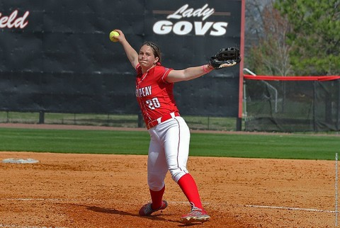 Austin Peay softball pitcher Sidney Hooper. (APSU Sports Information)