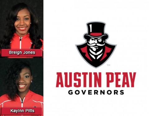 APSU's Breigh Jones and Kaylnn Pitts