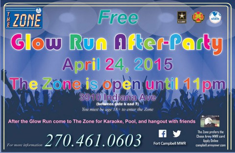 Fort Campbell Glow Run After Party at The Zone