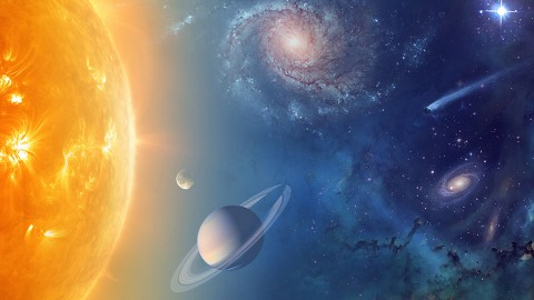 NASA is exploring our solar system and beyond to understand the workings of the universe, searching for water and life among the stars. (NASA)