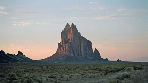 "Shiprock, New Mexico, is in the Four Corners region where an atmospheric methane ""hot spot"" can be seen from space. Researchers are currently in the area, trying to uncover the reasons for the hot spot. (Wikimedia Commons)"