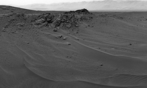 NASA's Curiosity Mars rover used its Navigation Camera (Navcam) to capture this scene toward the west just after completing a drive that took the mission's total driving distance on Mars past 10 kilometers (6.214 miles). (NASA/JPL-Caltech)