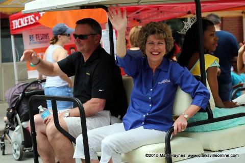 Clarksville Mayor Kim McMillan and Montgomery County Mayor Jim Durrett