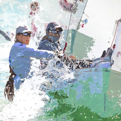 Salty Sisters Racing to Win. (Judy Saltzman)