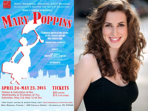 "Stephanie Hawkins stars in ""Mary Poppins"" at the Roxy Regional Theatre."
