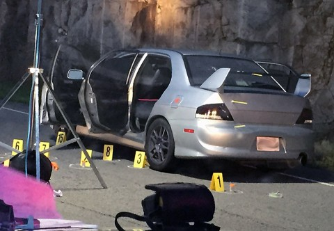 Shooting victim's vehicle.