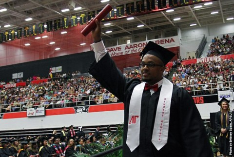 Austin Peay has 43 Student Athletes walk the line during Spring Commencement. (APSU Sports Information)