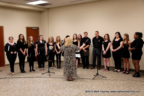 Encore and Carnival Choral Groups from Clarksville High School provided the opening music.