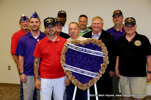 Purple Heart recipients at the 2015 Clarksville-Montgomery County Memorial Day Service