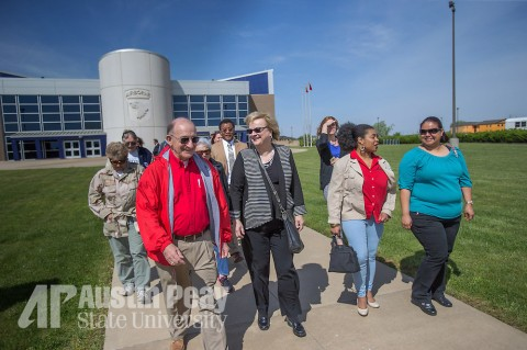 Members of the APSU Military Alumni Chapter and friends visited Fort Campbell for a tour on Friday, April 24, 2015. (APSU - Beth Liggett)