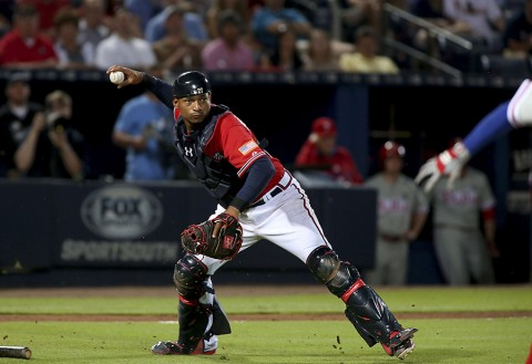 Atlanta Braves catcher Christian Bethancourt. (Jason Getz-USA TODAY Sports)