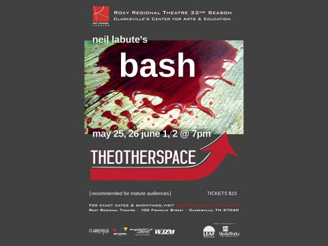 "Roxy Regional Theatre to present ""bash: latterday"" in theotherspace, May 26th-June 2nd"