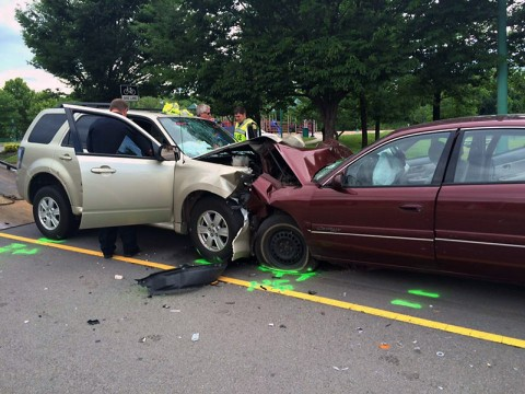 Head-on Collision on Riverside Drive.