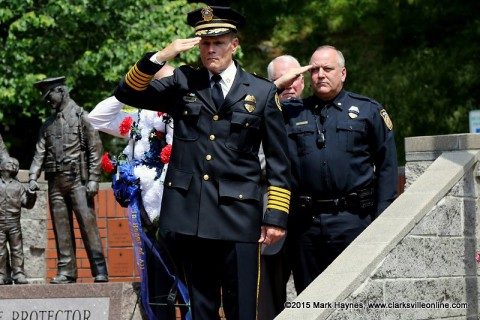 Fallen Officers remembered at Clarksville Police Memorial Day Ceremony.