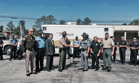 The Clarksville Police Department, Tennessee Highway Patrol, Kentucky State Police, Christian County Sheriff's Department, Montgomery County Sheriff's Department, Hopkinsville Police Department and Oak Grove Police Department to participate in Hands Across the Border. (CPD)