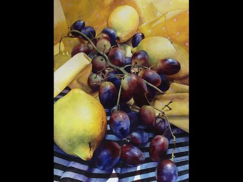 Christine Krupinski won the Gold Award for Lemons and Grapes.