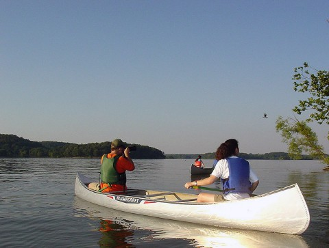 Canoeing at Land Between the Lakes. (LBL)