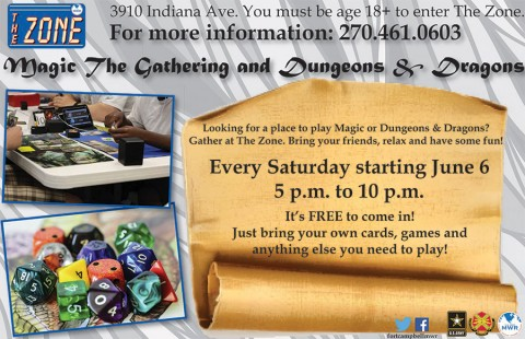 Magic the Gathering and Dungeons & Dragons at Fort Campbell's The Zone