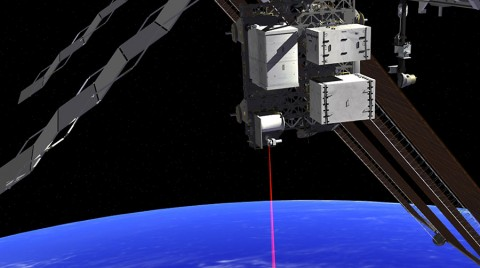 This artist's rendition shows OPALS operating from the International Space Station. (NASA/JPL-Caltech)