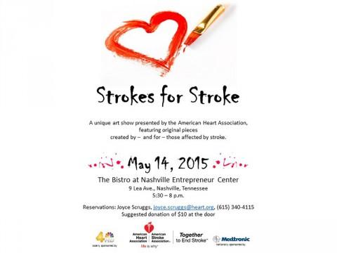 Strokes for Stroke Art Show Thursday, May 14th