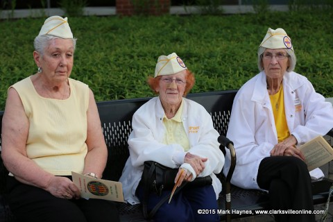 Gold Star Wives attending the event.