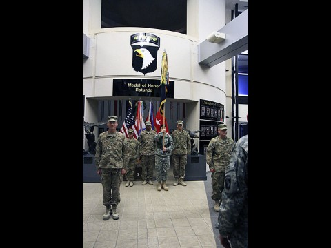 "1st Brigade Combat Team ""Bastogne"" Soldiers returned home from Afghanistan Sunday. (U.S. Army)"