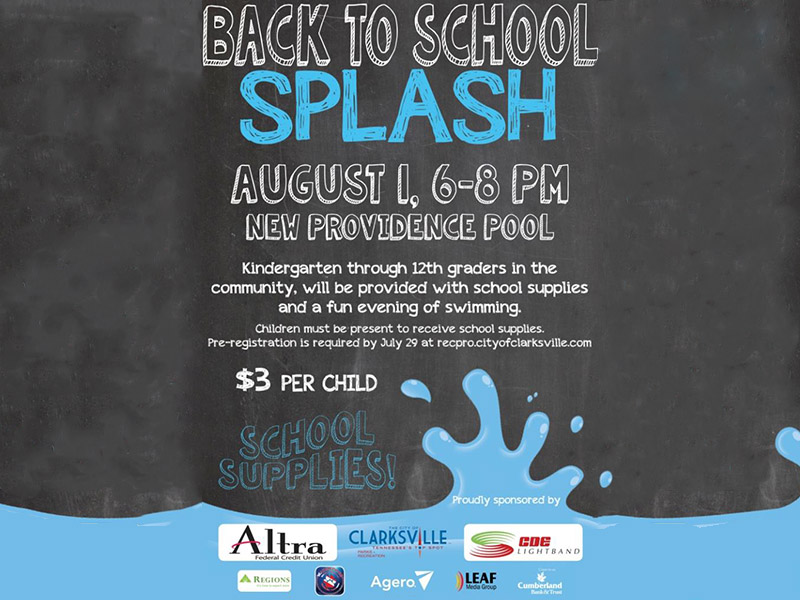 ... to give away school supplies at the 3rd annual Back to School Splash