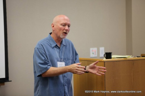 Rod Davis spoke about character creation at the 2015 Clarksville Writers Conference.