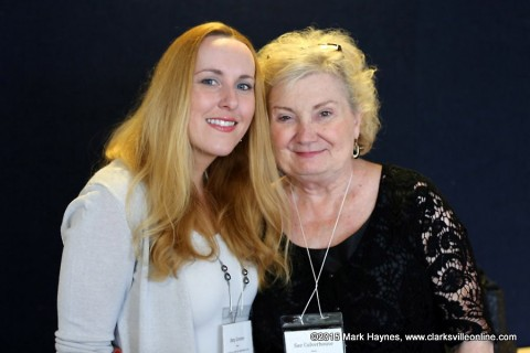 Author Sue Freeman Culverhouse (right) with author Amy Greene (left).