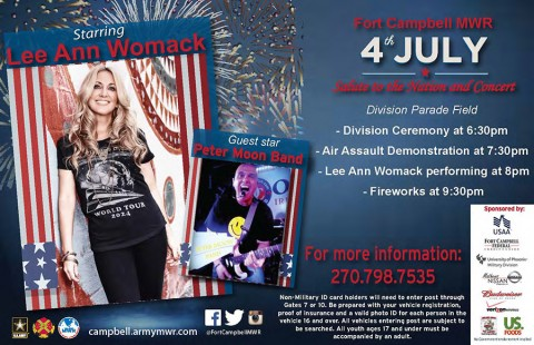 2015 Fort Campbell MWR July 4th Concert