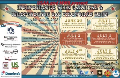 Fort Campbell's Annual Independence Week Carnival and Fireworks