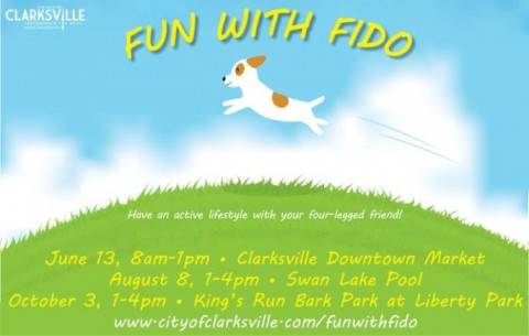 Fun with Fido continues June 13th at the Clarksville Downtown Market