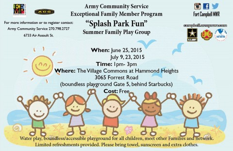 ACS free Summer Family Play Group in June and July at the Hammond Heights Village Commons.