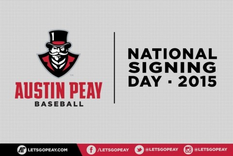 Austin Peay Baseball National Signing Day 2015. (APSU Sports Information)