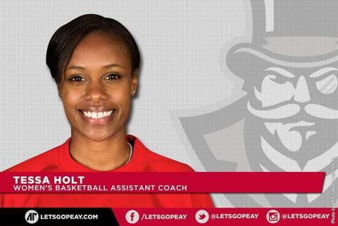 Austin Peay State University women's basketball coaching staff adds Tessah Holt. (APSU Sports Information)