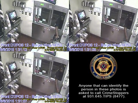 Anyone that can identify the person in these photos is asked to call CrimeStoppers at 931.645.TIPS (8477).