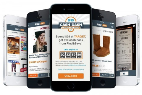 The Find&Save app gives consumers cash back for shopping in nearby stores. Shoppers can use the app to get cash back alerts, browse weekly ads and view the best deals nearby. Find&Save is available for both iPhone and Android phones.