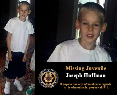 Missing Juvenile Joseph Huffman. If anyone has any information in regards to his whereabouts, please call 911.