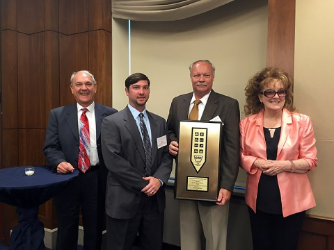 (L to R) Derrick Crandall CRT Co-Chair; Nick Powell, Montgomery County Engineer; Jerry Allbert, Montgomery County Parks Director; and Marianne Fowler, CRT Co-Chair