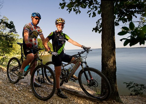 Land Between The Lakes National Recreation Area has 47 miles of mountain bike trails. (LBL - O'Neil Arnold for KY Toursim)