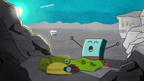 "The European Space Agency's Rosetta's lander ""Philae"" awoke from its cometary hibernation on June 13th. (ESA)"