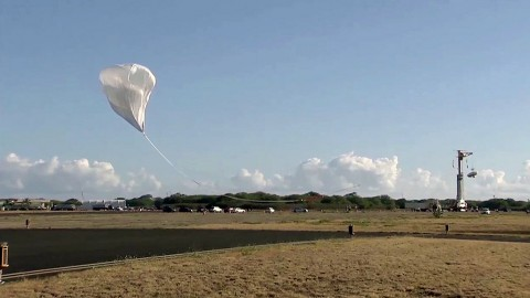 The balloon-aided liftoff kicked off the second test flight of the LDSD system. (NASA JPL-Caltech)
