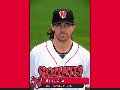 Nashville Sounds pitcher Barry Zito