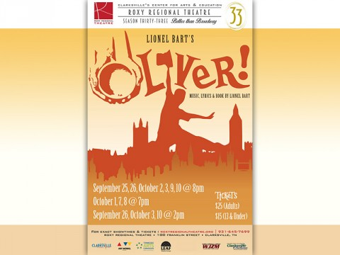 "Roxy Regional Theatre's 33rd Season to begin with ""Oliver!"""