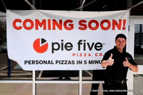 Pie Five Co. First assistant Manager Eddie Sparks.