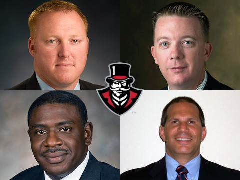 Final candidates for Austin Peay Athletics Director are (Top L to R) Ryan Ivey, Jason Coomer, Roderick D. Perry and Jim Sarra.