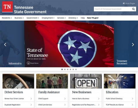 State of Tennessee's New Website